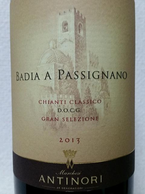 Badia a Passignano Chianti Classico Gran Selezione(バディア・ア・パッシニャーノ キャンティ・クラッシコ グラン・セレツィオーネ)