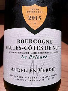 Aurélien Verdet Bourgogne Hautes Côtes de Nuits Le Prieuré Blanc