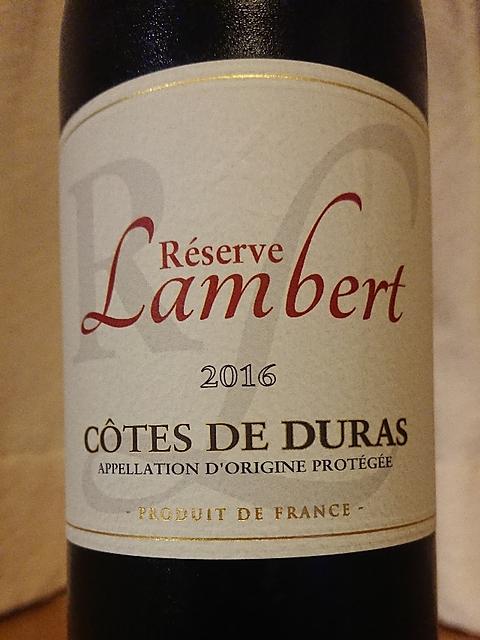 Lambert Réserve Côtes de Duras(ランベール レゼルヴ コート・ド・デュラス)