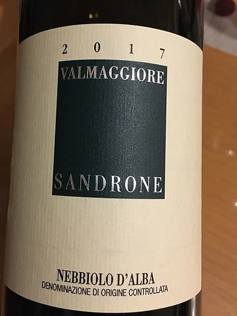 Luciano Sandrone Nebbiolo d'Alba Valmaggiore(ルチアーノ・サンドローネ ネッビオーロ・ダルバ ヴァルマッジョーレ)
