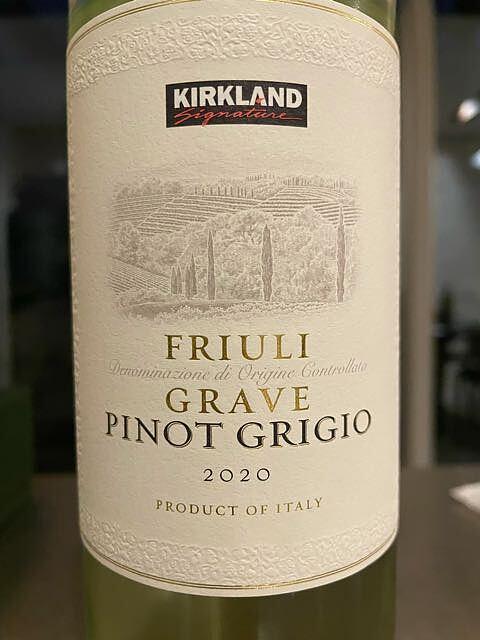 Kirkland Signature Friuli Pinot Grigio