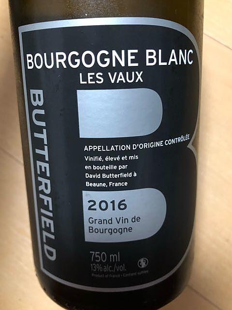 David Butterfield Bourgogne Blanc Les Vaux(デイヴィッド・バターフィールド ブルゴーニュ ブラン レ・ヴォー)