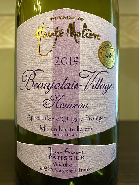Dom. de Haute Molière Beaujolais Villages Nouveau(ドメーヌ・ド・オート・モリエール ボージョレ・ヴィラージュ ヌーヴォー)