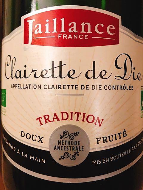 Jaillance Clairette de Die Tradition Bio