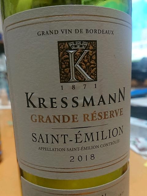 Kressmann Saint Émilion Grande Réserve(クレスマン サン・テミリオン グランド・レゼルヴ)