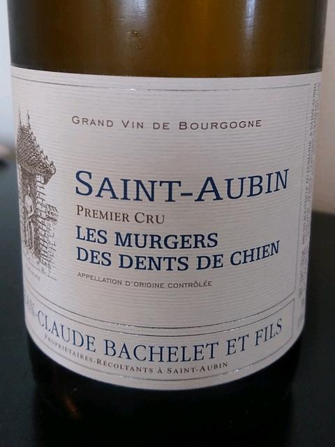 Jean Claude Bachelet et Fils Saint Aubin 1er Cru Les Murgers des Dents de Chien