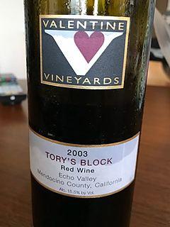 Valentine Vineyards Tory's Block Red Wine(ヴァレンタイン・ヴィンヤーズ トリーズ・ブロック レッド・ワイン)