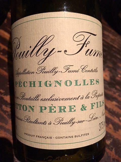 Gitton Pére & Fils Pouilly Fumé Les Péchignolles(ジットン・ペール・エ・フィス プイィ・フュメ レ・ペシニョール)