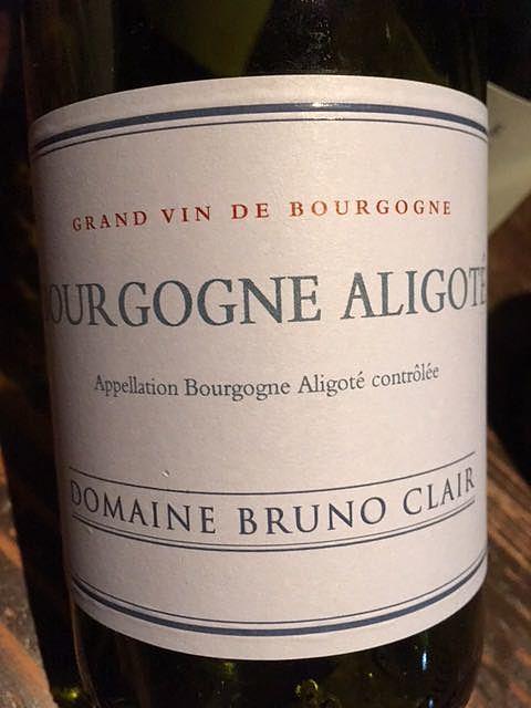Dom. Bruno Clair Bourgogne Aligoté(ドメーヌ・ブリュノ・クレール ブルゴーニュ アリゴテ)