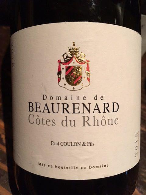 Dom. de Beaurenard Côtes du Rhone Rouge(ドメーヌ・ド・ボールナール コート・デュ・ローヌ ルージュ)