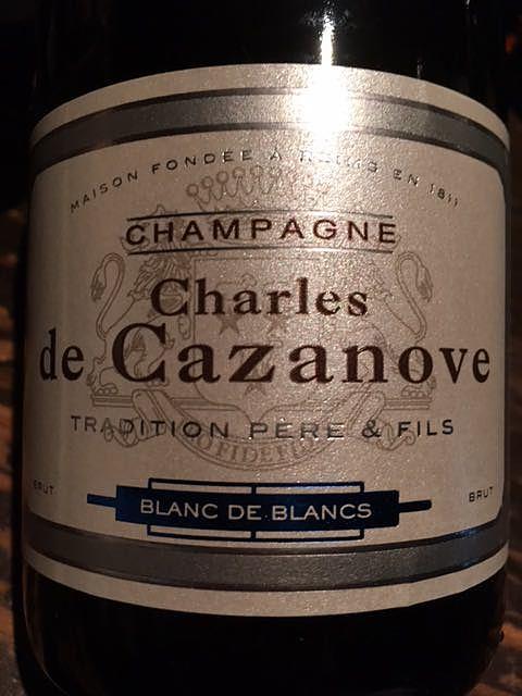 Charles de Cazanove Tradition Père & Fils Blanc de Blancs(シャルル・ド・カザノーヴ トラディション・ペール・エ・フィス ブラン・ド・ブラン)