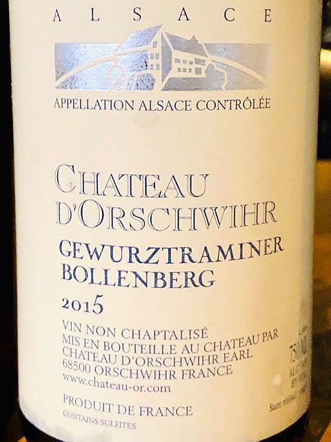 Ch. d'Orschwihr Gewürztraminer Bollenberg(シャトー・ドルシュヴィール ゲヴュルツトラミネール ボーレンベルク)