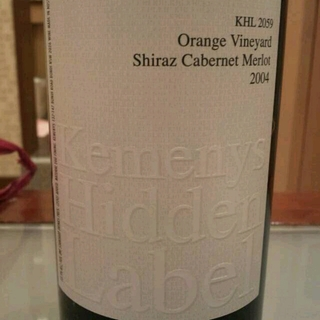 Kemenys Hidden Label KHL 2059 Orange Vineyard Shiraz Cabernet Merlot