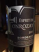 Esprit de Fonrozay Bordeaux(2015)