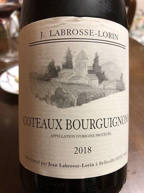 Jean Labrosse Lorin Coteaux Bourguignons Blanc