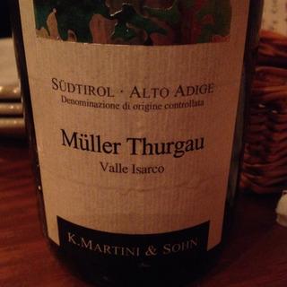 K. Martini & Sohn Müller Thurgau Valle Isarco