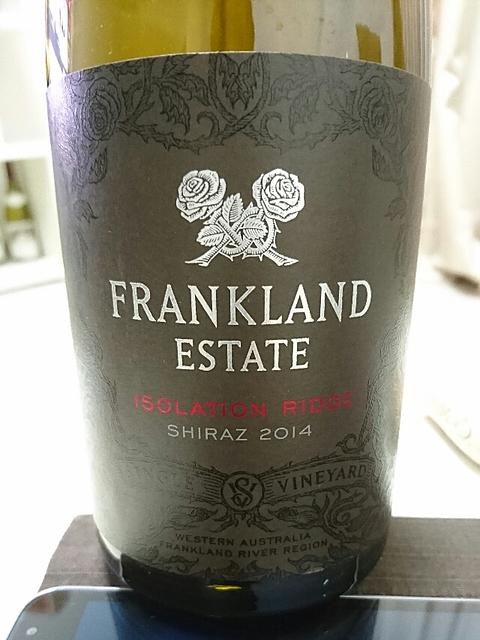 Frankland Estate Isolation Ridge Shiraz(フランクランド・エステート アイソレーション・リッジ シラーズ)