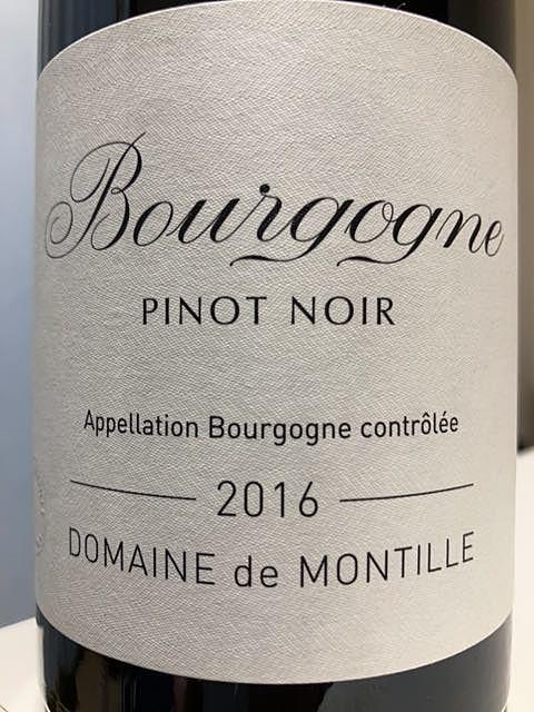Dom. de Montille Bourgogne Pino Noir(ドメーヌ・ド・モンティーユ ブルゴーニュ ピノ・ノワール)