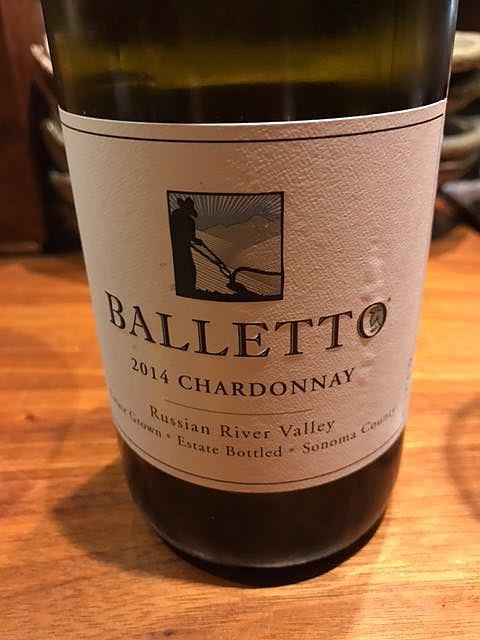 Balletto Chardonnay RRV(バレット シャルドネ ロシアン・リヴァー・ヴァレー)