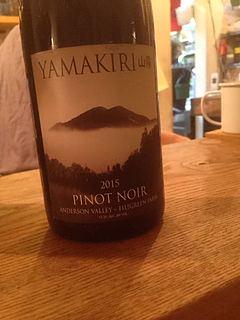 Yamakiri 山霧 Pinot Noir Filigreen Farm Anderson Valley(ヤマキリ ピノ・ノワール)