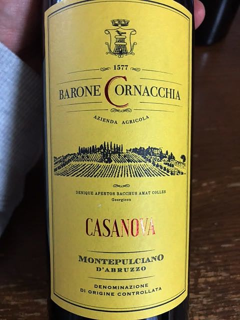 Barone Cornacchia Casanova Montepulciano d'Abruzzo(バローネ・コルナッキア カサノヴァ モンテプルチャーノ・ダブルッツォ)