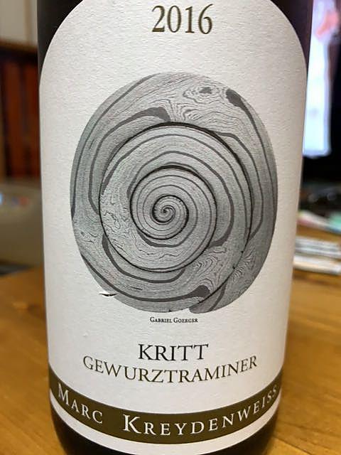 Marc Kreydenweiss Kritt Gewürztraminer(マルク・クライデンヴァイス クリット ゲヴュルツトラミネル)