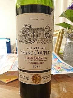 Ch. Franc Couplet Bordeaux Cuvée Prestige(シャトー・フラン・クープレ ボルドー キュヴェ・プレステージ)