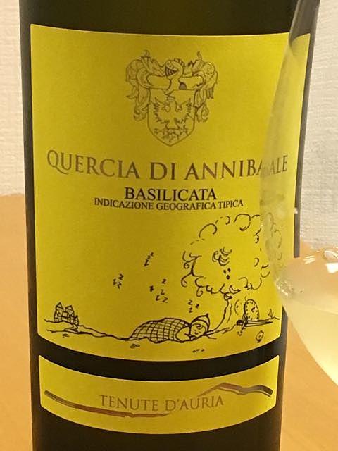 Tenute D'Auria Quercia di Annibale Basilicata Bianco(テヌーテ・ダウリア クエルチア・ディ・アニバーレ バジリカータ ビアンコ)