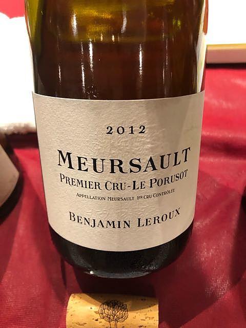 Benjamin Leroux Meursault 1er Cru Le Porusots