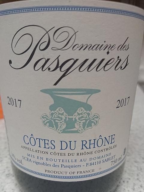 Dom. des Pasquiers Côtes du Rhône Rouge(ドメーヌ・デ・パスキエ コート・ドュ・ローヌ ルージュ)