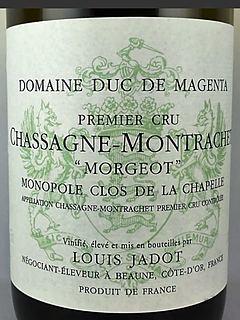 Dom. du Duc de Magenta Chassagne Montrachet 1er Cru Morgeot Blanc Monopole Clos de la Chapelle(ドメーヌ・デュ・デュック・ド・マジェンタ シャサーニュ・モンラッシェ プルミエ・クリュ モルジョ モノポール ブラン クロ・ド・ラ・シャペル)