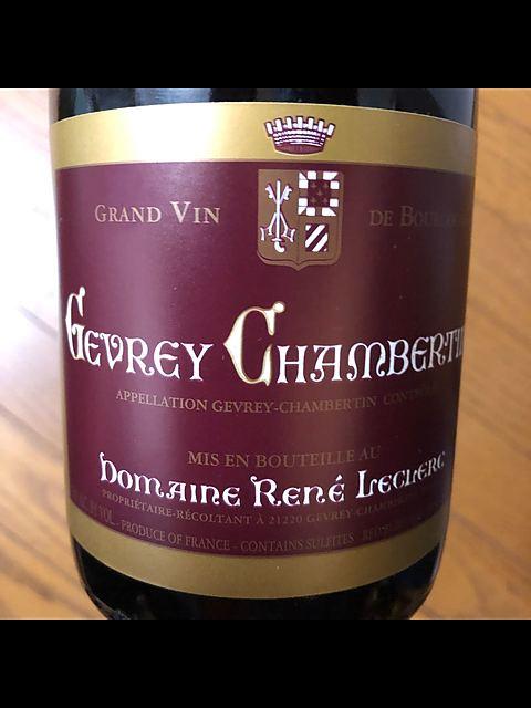 Dom. René Leclerc Gevrey Chambertin(ドメーヌ・ルネ・ルクレール ジュヴレ・シャンベルタン)