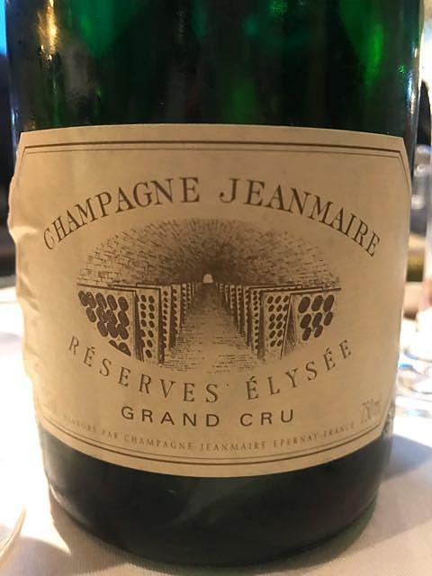 Jeanmaire Réserves Élysée Grand Cru(ジョンメアー キュヴェ・ブリュット)