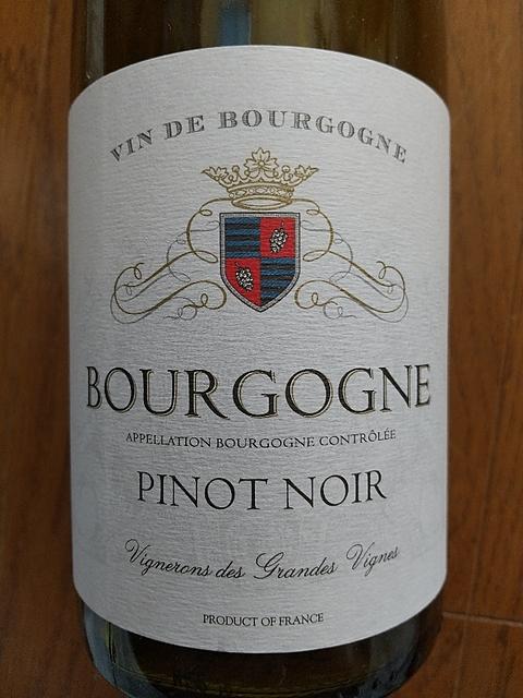 Vignerons des Grandes Vignes Bourgogne Pinot Noir(ヴィニュロン・デ・グラン・ヴィーニュ ブルゴーニュ ピノ・ノワール)