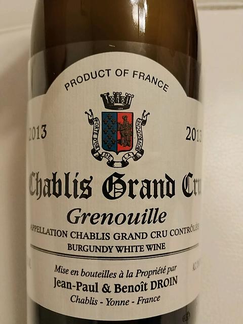 Jean Paul & Benoit Droin Chablis Grand Cru Grenouille