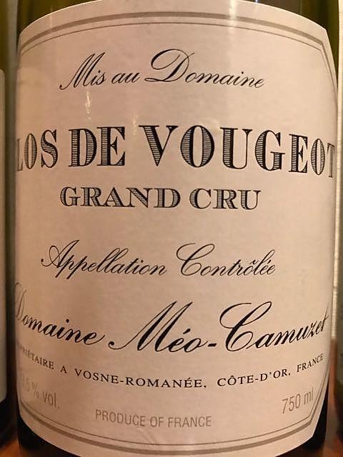 Dom. Méo Camuzet Clos de Vougeot Grand Cru(ドメーヌ・メオ・カミュゼ クロ・ド・ヴージョ グラン・クリュ)