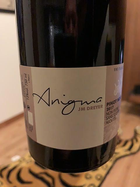 J.M Dreyer Anigma Pinot Noir(ジャン・マルク・ドレイヤー アニグマ ピノ・ノワール)