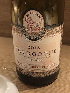 Dom. Thierry Pinquier Bourgogne Pinot Noir(ドメーヌ・ティエリ・パンケ ブルゴーニュ ピノ・ノワール)