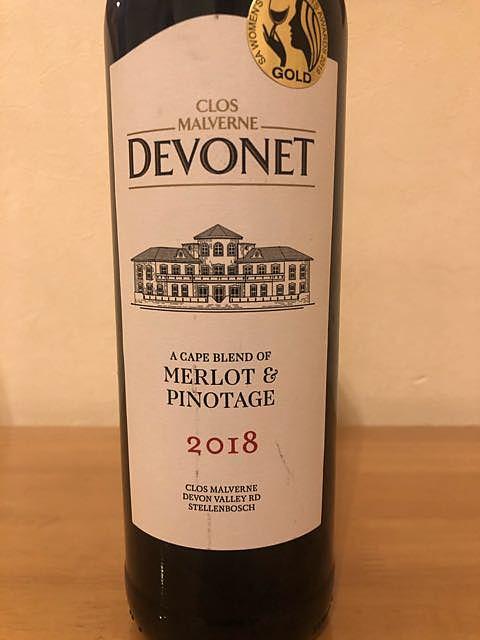 Clos Malverne Devonet Merlot & Pinotage(クロ・マルヴェルヌ デヴォネ メルロー ピノタージュ)