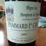 Vigne des Hospices de Dijon Pommard 1er Cru Cuvée Prieur Louis Berrier(2007)