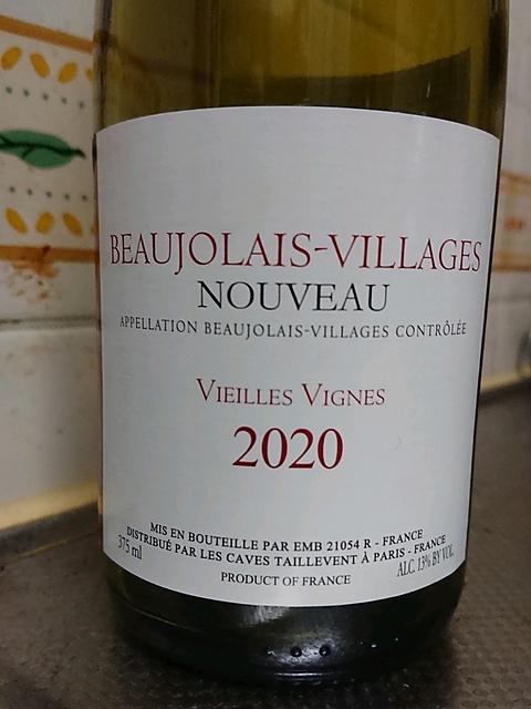 Les Caves Taillevent Beaujolais Villages Nouveau Vieilles Vignes(タイユヴァン ボジョレー・ヴィラージュ・ヌーヴォー ヴィエイユ・ヴィーニュ)