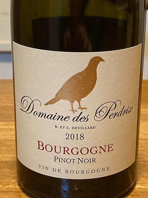 Dom. des Perdrix Bourgogne Pinot Noir(ドメーヌ・デ・ペルドリ ブルゴーニュ ピノ・ノワール)