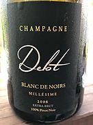 シャンパーニュ・デロット ブラン・ド・ノワール ミレジメ(2008)