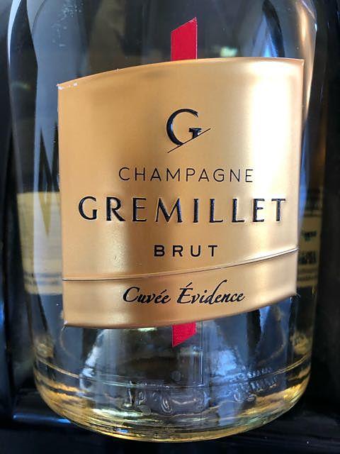 Gremillet Cuvée Evidance Brut(グルミエ キュヴェ・エヴィデンス ブリュット)