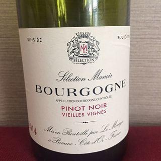 Sélection Manoir Bourgogne Pinot Noir Vieilles Vignes(セレクション・マノワ ブルゴーニュ ピノ・ノワール ヴィエイユ・ヴィーニュ)