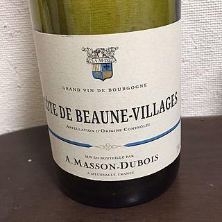 Masson Dubois Côte de Beaune Villages(マッソン・デュボア コート・ド・ボーヌ・ヴィラージュ)