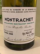 ドメーヌ・ド・ラ・ロマネ・コンティ モンラッシェ(2006)