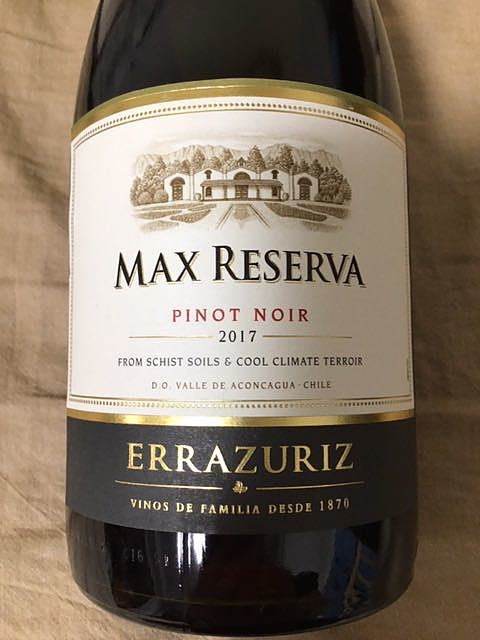 Errazuriz Max Reserva Pinot Noir(エラスリス マックス・レゼルヴァ ピノ・ノワール)