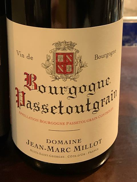 Jean Marc Millot Bourgogne Passetoutgrains(ジャン・マルク・ミヨ ブルゴーニュ・パストゥグラン)