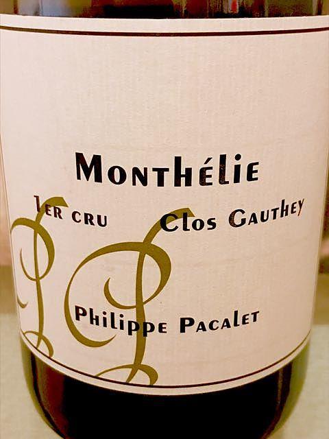 Philippe Pacalet Monthélie 1er Cru Clos Gauthey